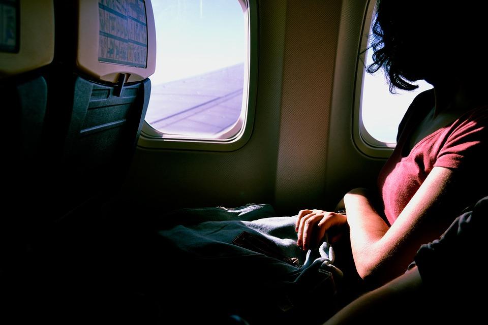 pasažér v letadle